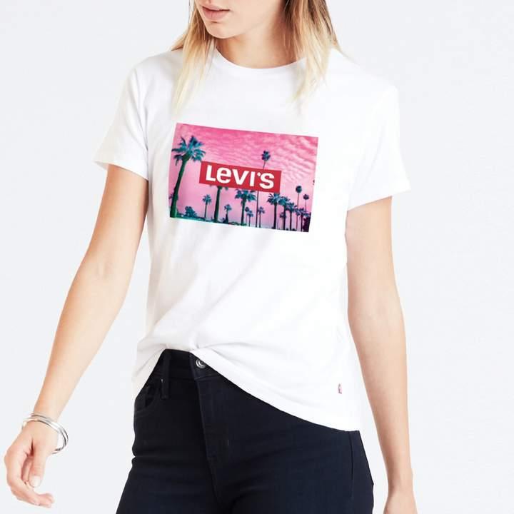 Levi's Palm Tree Print Cotton T-Shirt