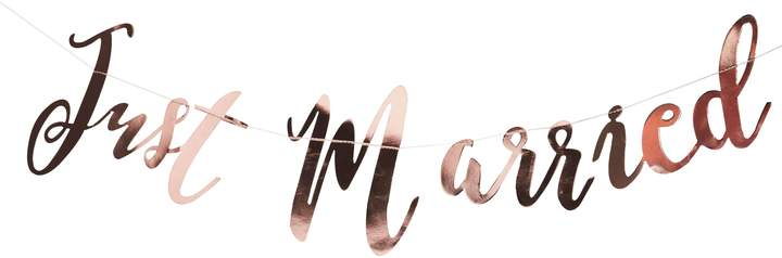 Ginger Ray Just Married Rose Gold Bunting Backdrop