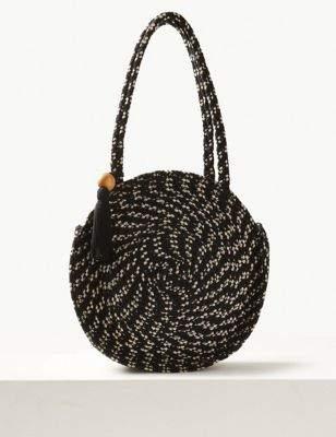 Fabric Circle Tote Bag
