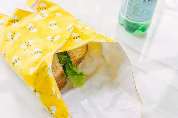 Zero Waste Sandwich Wrap - Bee Reusable Food Wrap - Eco Friendly Snack Bag - Reusable Sandwich Bags - Sustainable Living Gifts for Women