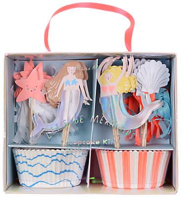 Meri Meri Let's Be Mermaids Cupcake Kit, Set of 24