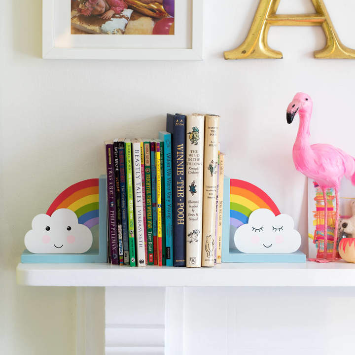 Lola & Alice Rainbow And Cloud Children's Bookends