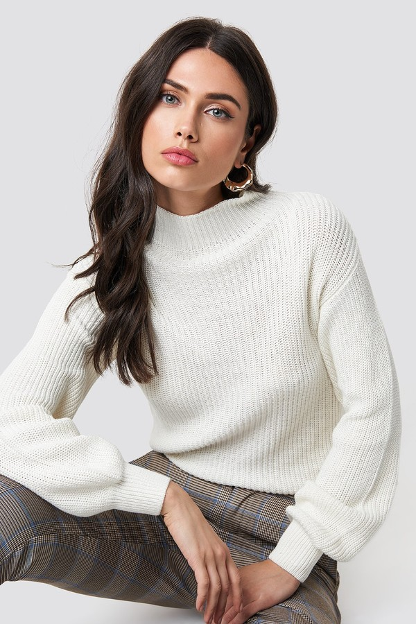 Rut&Circle Quini Rib Sweater White