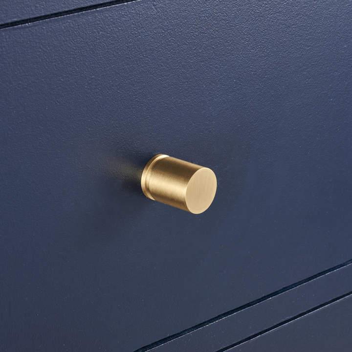 Pushka Home Brass Cylinder Cupboard Door Knobs