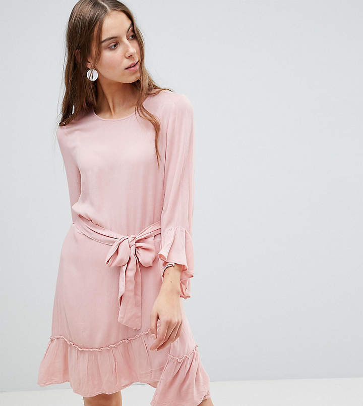 Vero Moda Tall Ruffle Dress With Wrap Hem