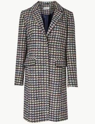 Jacquard Single Breasted Coat