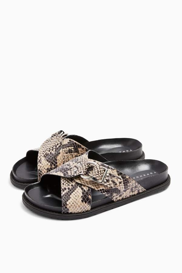 Topshop Womens Hilton Footbed Sandals - Natural