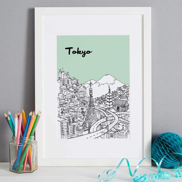 Tessa Galloway Illustration Screen Print Tokyo