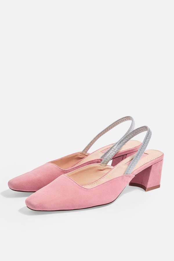 Topshop Womens Jeweler Slingback Shoes - Pink