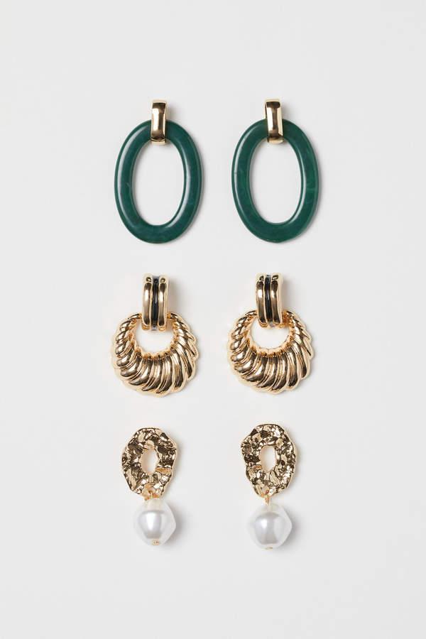 H&M 3 pairs earrings