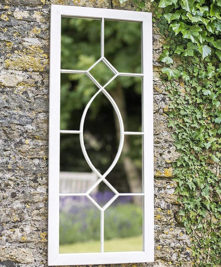 Garden Leisure Tall Rectangular Cream Metal Garden Mirror