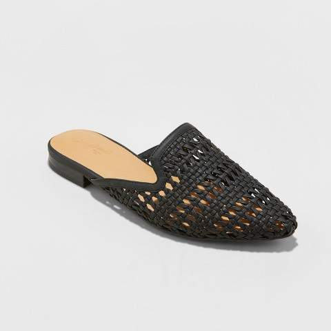 Universal Thread Women's Whisper Woven Backless Slip On Mules Mules - Universal Thread