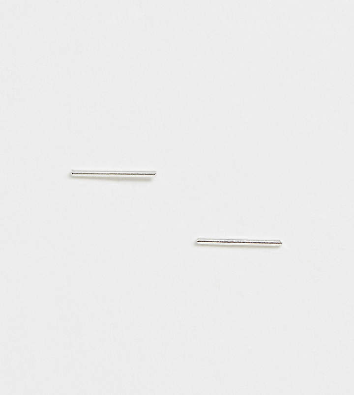 Kingsley Ryan sterling silver large bar stud earrings