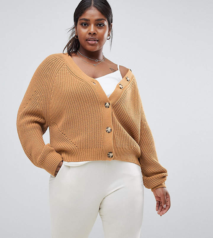 Micha Lounge Curve oversized cardigan with contrast buttons