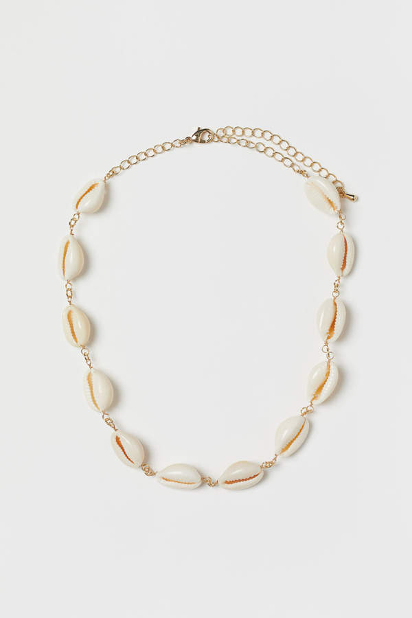 H&M - Necklace with Shells - White
