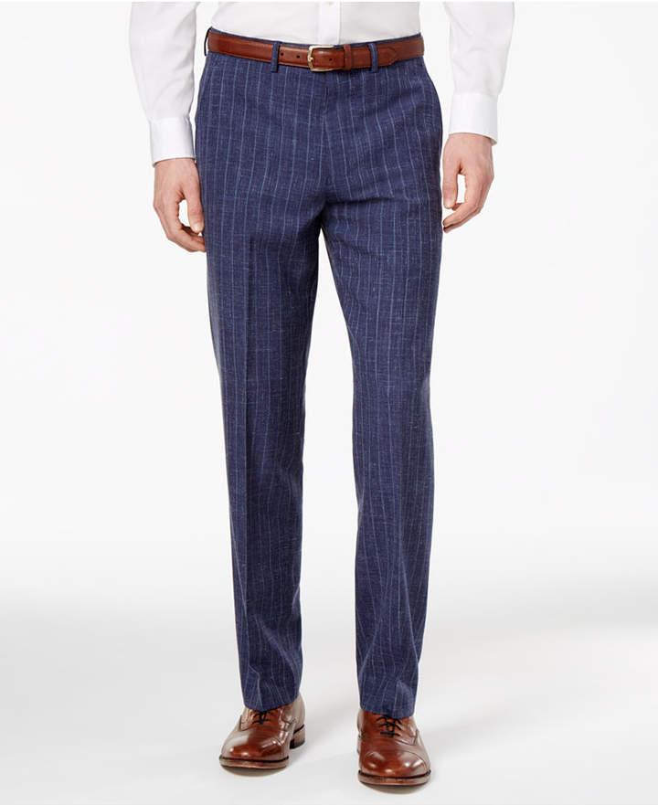 Ryan Seacrest Distinction Men's Slim-Fit Blue Chalk Stripe Suit Pants, Created for Macy's