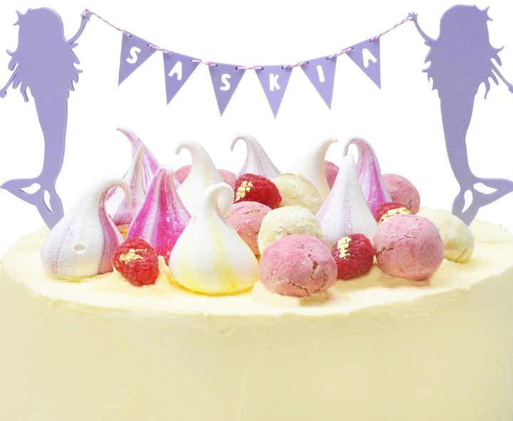 Cotton Twist Personalised Mermaid Cake Topper