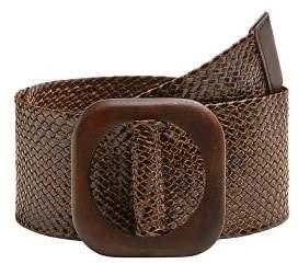 Braided wood belt