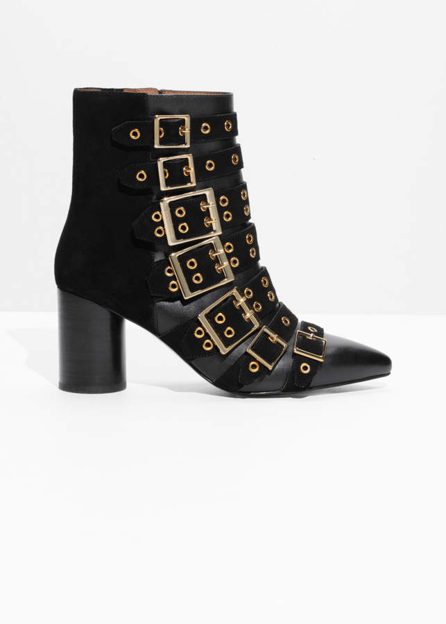 And other stories Multi Buckle Ankle Boots