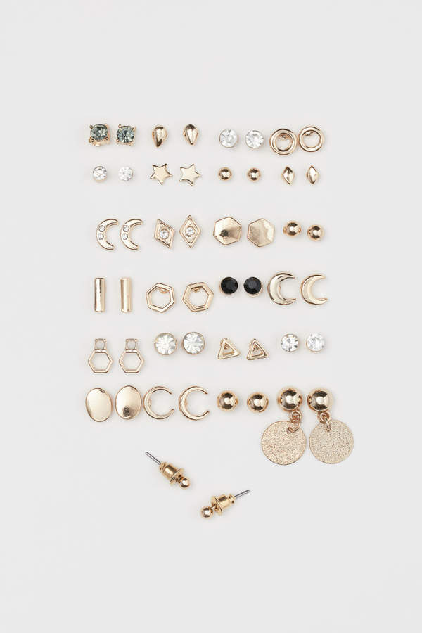 H&M - 25 pairs Stud Earrings - Gold