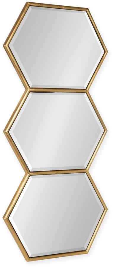 Kate And Laurel Kate and Laurel Royce 14& x 30& Hexagonal Mirror