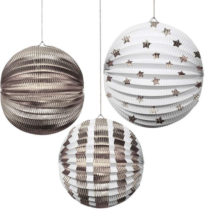 Little Ella James Metallic Foil Globe Decorations