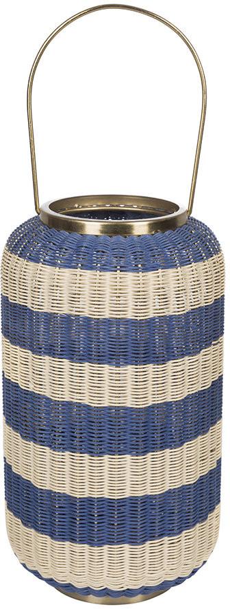 A By Amara A by Amara - Tall Wicker Weave Hurricane - Blue/White