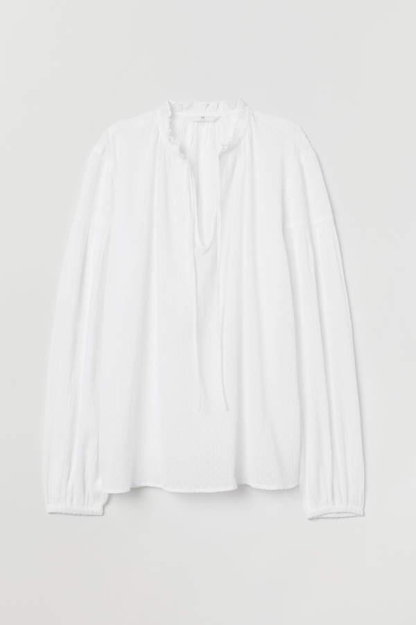 H&M Plumeti cotton blouse