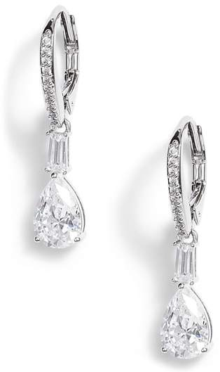 Nadri Fanfare Cubic Zirconia Drop Earrings