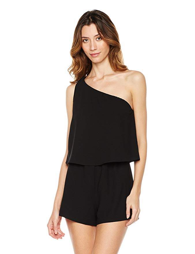 Plumberry Women's One-Shoulder Romper