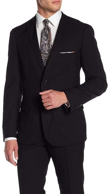 Paisley & Gray Black Solid Two Button Notch Lapel Slim Fit Suit Separates Jacket