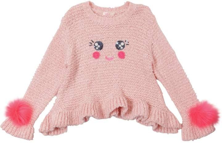 Billieblush Smiley Face Knit Sweater