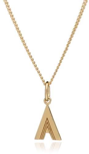 Rachel Jackson London Initial Necklace Gold