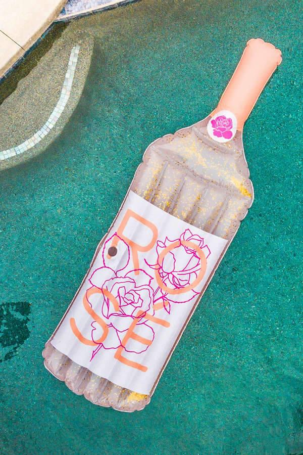 Glitter Rosé Pool Float