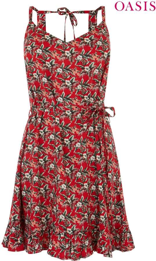 Womens Oasis Pink Aymee Floral Dress