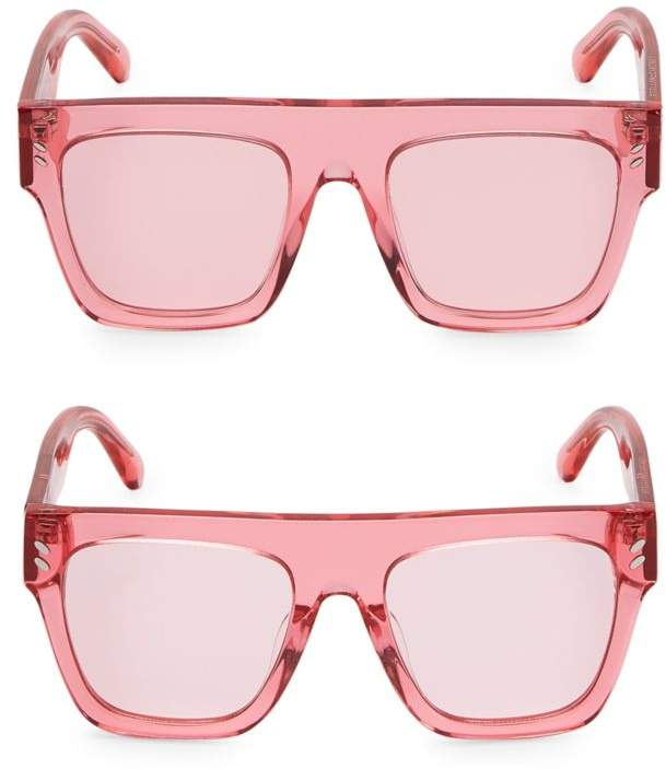 Stella Mccartney Mum & Me Clear Flat Top Sunglasses 2-Pair Set