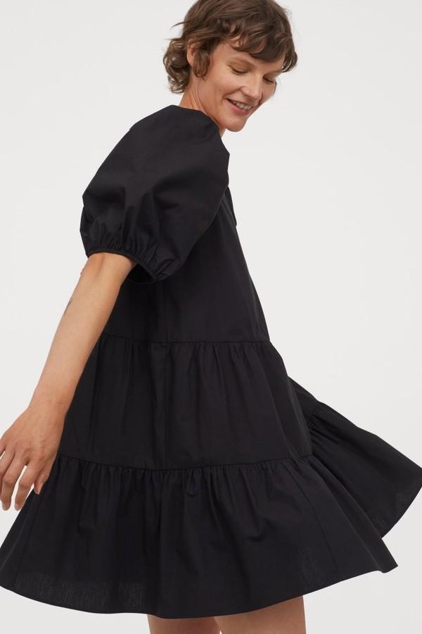 Puff-sleeved dress