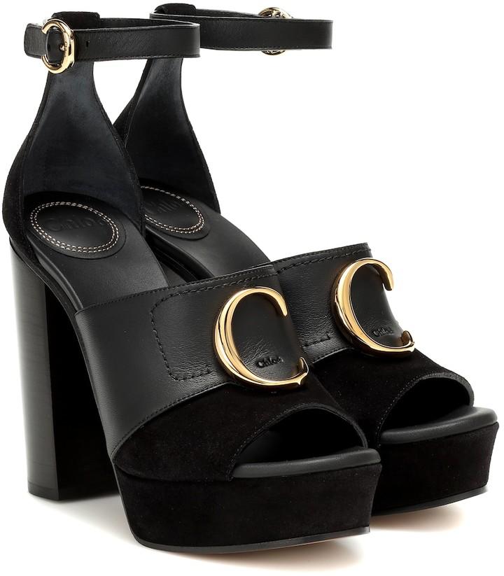 Chloe C platform leather sandals