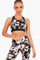 boohoo Fit Camo Sports Bra