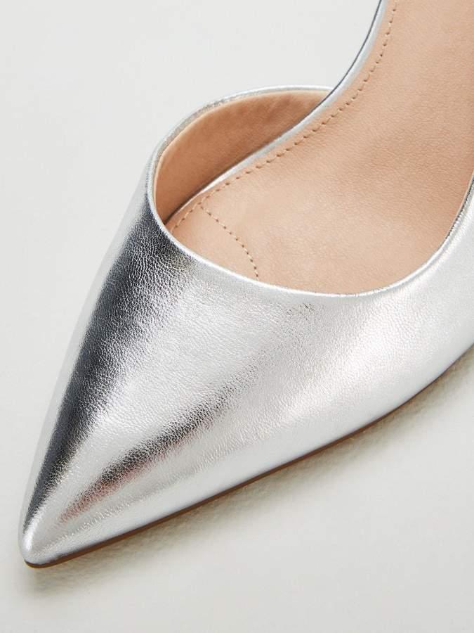 Celia Wide Fit D'orsay Court Shoes - Silver