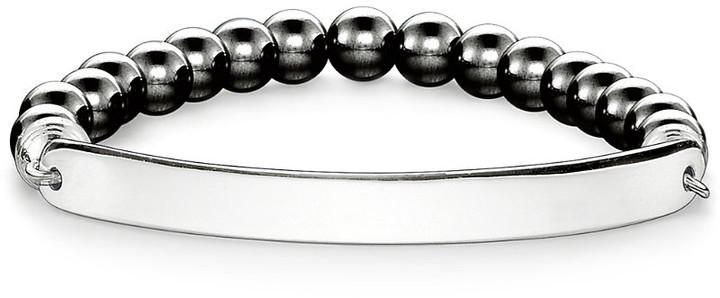 Thomas Sabo Love Bridge engraveable haematite bracelet, Women's, Size: 15CM, silver