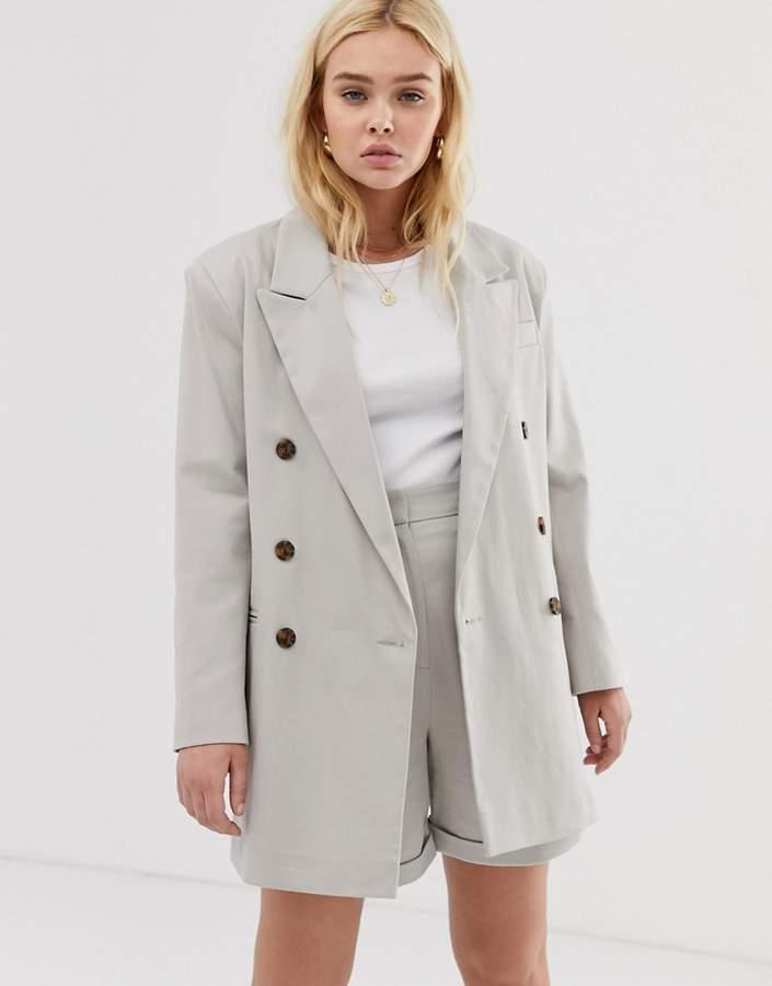 Asos Design ASOS DESIGN oversized double breasted dad suit blazer