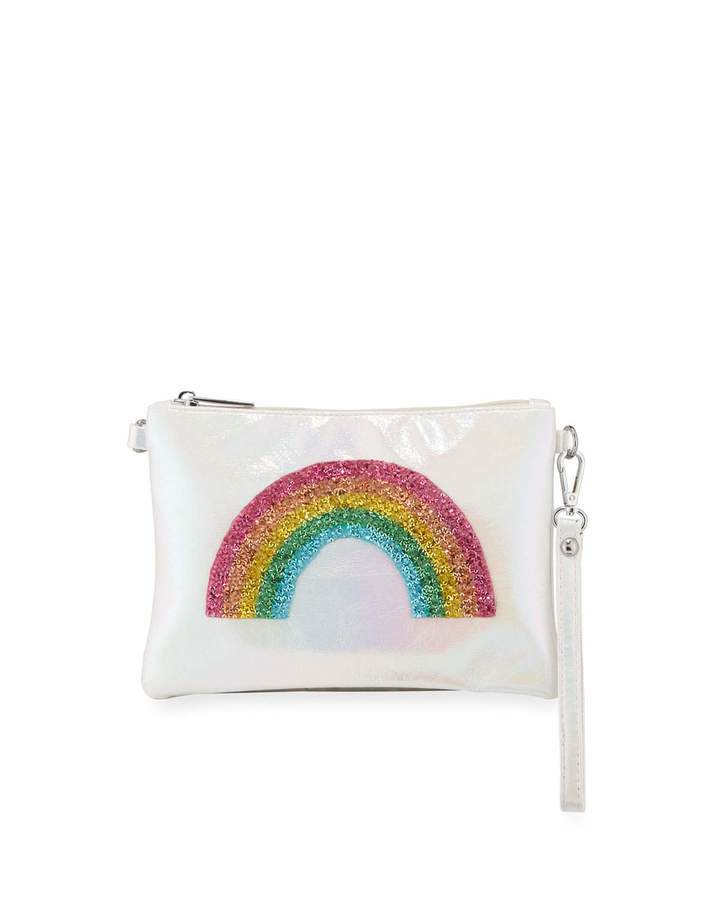 Bari Lynn Girls' Rainbow Wristlet Crossbody Bag