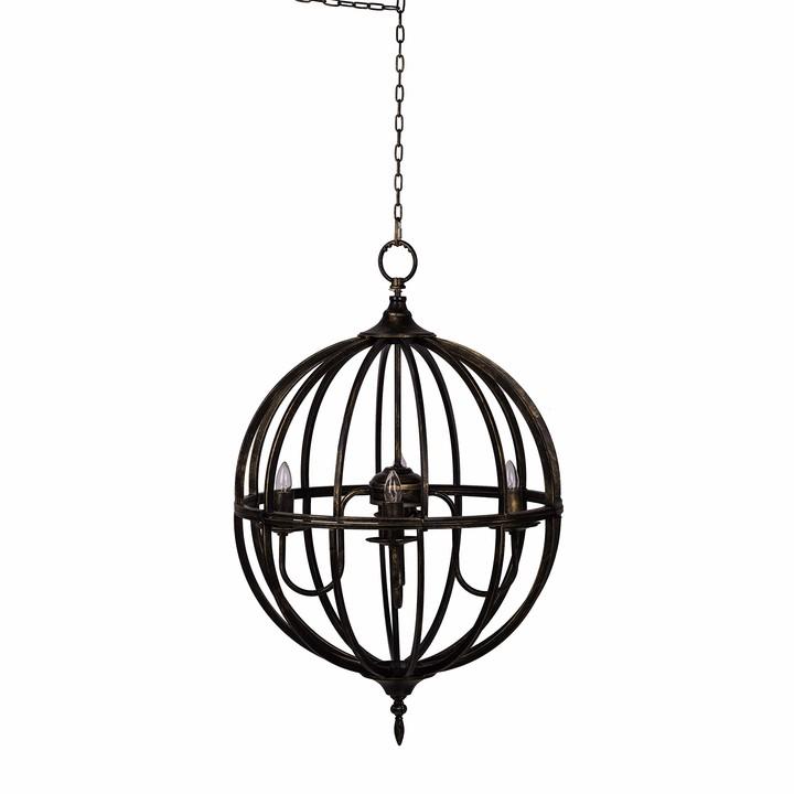 spere shaped modern finish chandelier