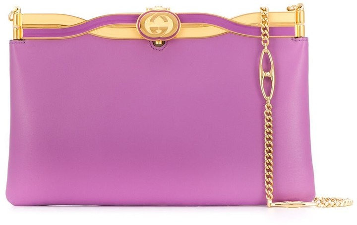 Broadway evening bag with twisted enamel