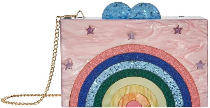 Bari Lynn Rainbow Happy Box Clutch