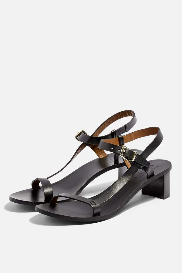 Topshop Womens **Wide Fit Venus Asymmetric Sandals - Black