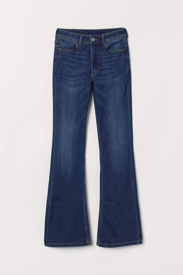 H&M - Mini Flare High Jeans - Blue