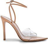 Gianvito Rossi Leather & Plexi Stark Ankle Strap Sandals