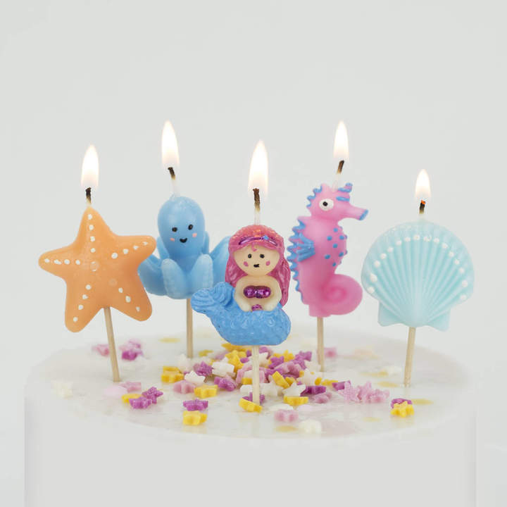 We Love To Create Mermaid Candles Birthday Cake Under The Sea